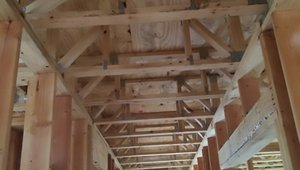 Custom-made floor and roof trusses were designed to allow straight runs for HVAC ducts.