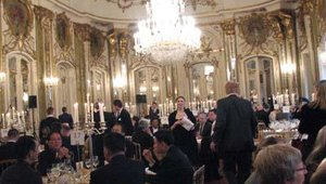 Dinner at the palace included several courses and was complimented by opera.