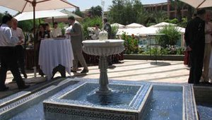 Attendees were invited to tea and coffee throughout the day on one of the resort's scenic patios.