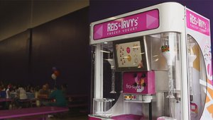 Kiosks turn down the heat with frozen yogurt