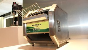 From APW/WYOTT Foodservice Equipment is the ECO-4000, the company's newest conveyor toaster. A unique ESaver mode conserves energy during nonpeak hours while keeping the unit ready to handle high volume surges.
