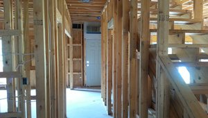 The 2-by-6 advanced framed walls use less lumber, allowing more space in the wall cavities for insulation.