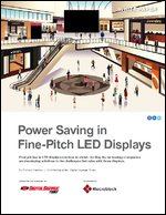 Power Saving in Fine-Pitch LED Displays