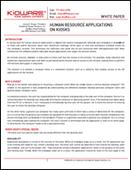 Human Resource Applications on Kiosks