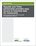 Squadle and Triton Partnership Provides Easy Access to Essential Data for Restaurants