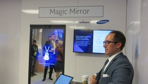 <p>The Magic Mirror uses Intel's RealSense technology. The mirror is intended to create an immersive shopping experience that enables customers to create outfits and try on different items without the help of an in-store employee.</p>