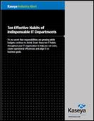 Ten Effective Habits of Indispensable IT Departments