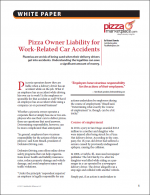 Pizza Owner Liability for Work-Related Car Accidents