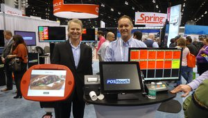 Scott Johnson of SlabbKiosks and Tim Fogarty of POSitouch present a complete POS solution.