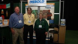 From left: Allen Mendenhall, Jeff Bauman and Lora Davis, were from Diebold Premier Services.