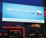 Clorox DOOH campaign bleaches away the evidence in Sin City