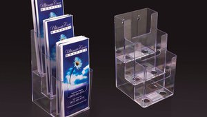 Display Three Tiers of Literature in a Small Footprint with New Excelsior® Holder