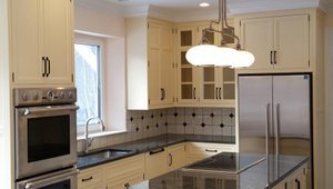 The ENERGY STAR refrigerator and dishwasher and advanced LED lighting add to energy savings.