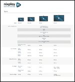 Nixplay Digital Signage Spec Sheet