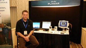 Planar showed its 17-inch and 19-inch touchscreen monitors, as well as the sci-fi-esque DS15 Integrated Marketing Solution, designed for point-of-sale and point-of-purchase marketing.