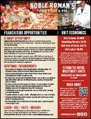 Noble Roman's Craft Pizza & Pub Franchising Info Sheet