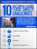 10 Most Commonly Observed Food Safety Challenges - QSR Edition