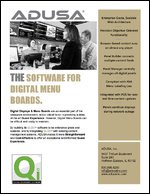 The Software for Digital Menu Boards