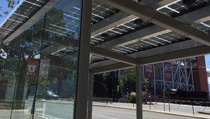 Solar array floats atop Utah university (video)