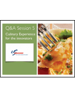 Culinary Experience for the Innovators (Slides)