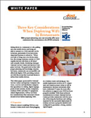 Three Key Considerations When Deploying WiFi In Restaurants