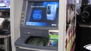 Diebold's ATMs featured new anti-skimming tech.