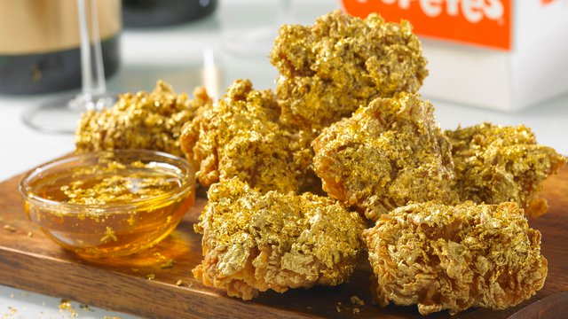 Popeyes celebrates 3,000th store with 24 Karat gold wings Thursday