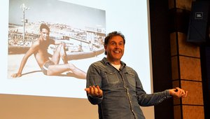 John Vincent, co-founder of LEON, delivers a keynote presentation.  Photo credit: Ryan Cansler