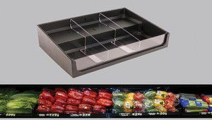 Maximize Fresh Product Presentation with Divided Step Organizer