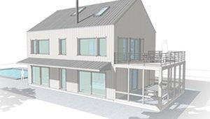 Prefab Passive House Features Super Roof