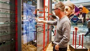 London optician looks into social digital signage