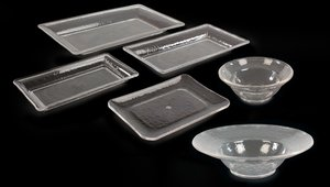 Display prepared foods in clear rain-collection bowls/trays for maximum appeal