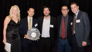 Giraffas, No. 13, was appreciated by judges as a fast-growing import from Brazil and Latin America, where the brand has more than 400 locations. Joao Barbosa, CEO of Giraffas USA, holds the plaque.