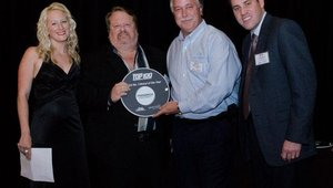 Bryan Lockwood and Mike Lingor (second and third from left) accepted the No. 3 award for Freebirds, which doubled its locations in 2012. Bryan is the CEO of Tavistock Restaurants, which purchased the brand in 2012.