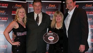 <p>Russ Bendell, CEO of The Habit, and his wife, Judy, celebrate the brand's presence at the gala with Cherryh Butler, editor of FastCasual.com and Jeremy Dobrowolski, COO of Taylor.</p>  <p> </p>