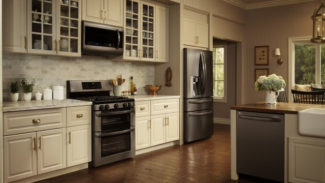 Kitchen Design Ideas With Black Stainless Applainces ~ For kitchens black stainless steel is the new