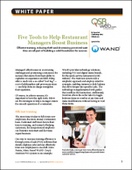 Five Tools to Help Restaurant Managers Boost Business