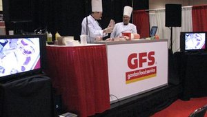 Chefs from Gordon Food Service gave a number of cooking demonstrations at the show.