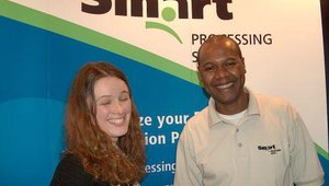 Smart Processing's booth was full of smiles.