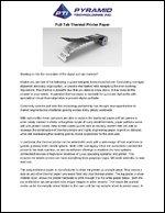 Pull Tab Thermal Printer Paper