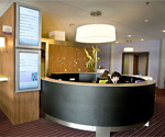 Digital signage checking into hotels to stay