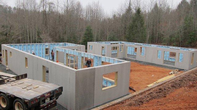 Precast concrete walls provide efficiency, durability to N.C. home