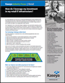 How do I leverage my investment in my retail IT infrastructure?