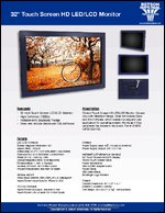 "32"" Touch Screen HD LED/LCD Monitor Sell Sheet"