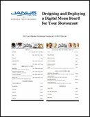 Designing and Deploying a Digital Menu Board for Your Restaurant