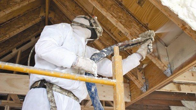 Spray polyurethane foam a growing component in zero net for Foam home construction