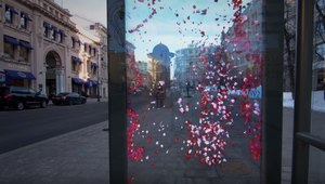 Augmented reality bus shelter boosts awareness for TV show