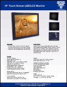 "19"" Touch Screen LED/LCD Monitor Sell Sheet"