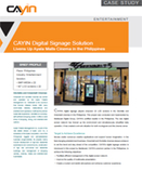 CAYIN Digital Signage Solution Livens Up Ayala Malls Cinema in the Philippines