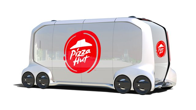 Pizza Hut/Toyota pair on self-driving car that might cook, too